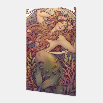 Andersen's Little Mermaid Nouveau Canvas thumbnail image
