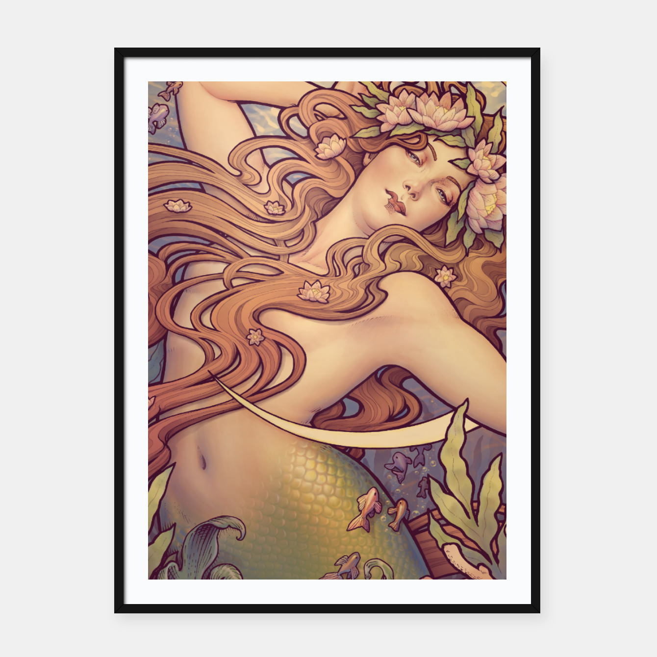 Image of Andersen's Little Mermaid Nouveau Framed poster - Live Heroes