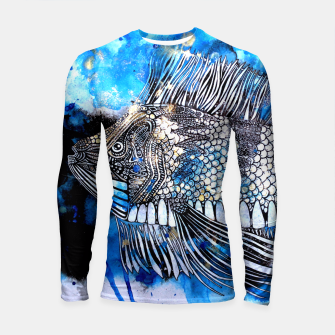 Thumbnail image of Beautiful but angry fish Longsleeve Rashguard , Live Heroes