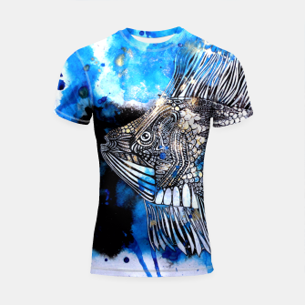 Thumbnail image of Beautiful but angry fish Shortsleeve Rashguard, Live Heroes