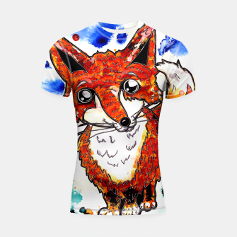 Thumbnail image of Cuterrr Fox Shortsleeve Rashguard, Live Heroes