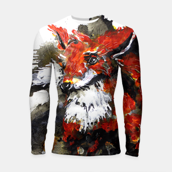 Thumbnail image of Smooth as fox Longsleeve Rashguard , Live Heroes