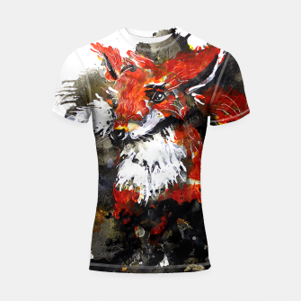 Thumbnail image of Smooth as fox Shortsleeve Rashguard, Live Heroes