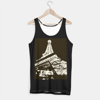 Miniaturka drawing Eiffel Tower, Paris in black and white Tank Top regular, Live Heroes