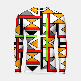 Thumbnail image of Geometric Abstract Funky Colorful Print Longsleeve Rashguard , Live Heroes