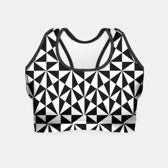 Thumbnail image of Geometric Bold Black White Funky Print Crop Top, Live Heroes