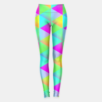Thumbnail image of Popping Rainbow Glow Geometric Print Leggings, Live Heroes