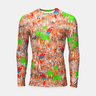 Thumbnail image of Tropical Parrot Jungle Print  Longsleeve Rashguard , Live Heroes