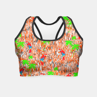 Thumbnail image of Tropical Parrot Jungle Print  Crop Top, Live Heroes