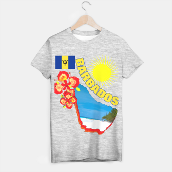 Thumbnail image of Tropical Sunshine Barbados Flowers T-shirt regular, Live Heroes