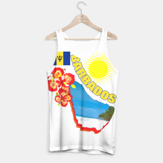 Thumbnail image of Tropical Sunshine Barbados Flowers Tank Top, Live Heroes