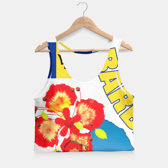 Thumbnail image of Tropical Sunshine Barbados Flowers Crop Top, Live Heroes