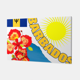Thumbnail image of Tropical Sunshine Barbados Flowers Canvas, Live Heroes