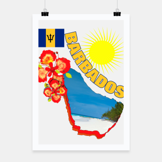 Thumbnail image of Tropical Sunshine Barbados Flowers Poster, Live Heroes