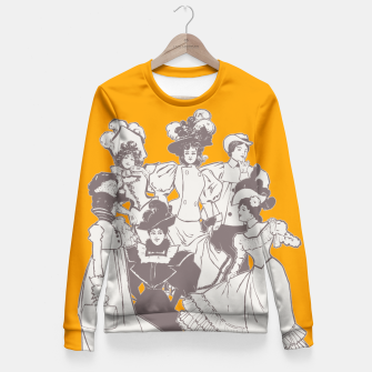 Thumbnail image of Vintage Ladies APRICOT Fitted Waist Sweater, Live Heroes