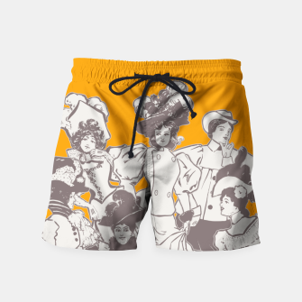 Thumbnail image of Vintage Ladies APRICOT Swim Shorts, Live Heroes