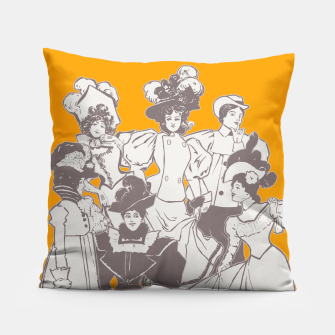 Thumbnail image of Vintage Ladies APRICOT Pillow, Live Heroes