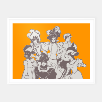 Thumbnail image of Vintage Ladies APRICOT Framed poster, Live Heroes