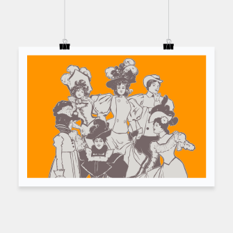 Thumbnail image of Vintage Ladies APRICOT Poster, Live Heroes