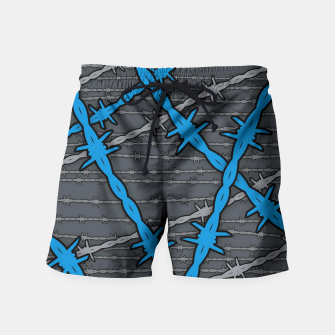 Thumbnail image of Barbed ELECTRIC BLUE Swim Shorts, Live Heroes