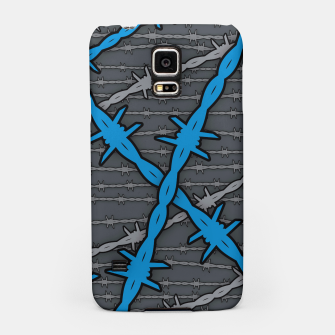 Thumbnail image of Barbed ELECTRIC BLUE Samsung Case, Live Heroes