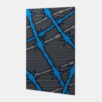 Miniatur Barbed ELECTRIC BLUE Canvas, Live Heroes