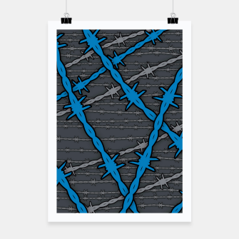 Thumbnail image of Barbed ELECTRIC BLUE Poster, Live Heroes