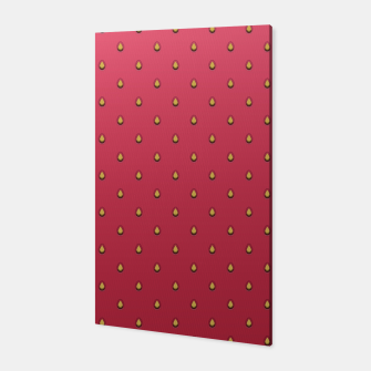 Miniatur Strawberry Pattern Canvas, Live Heroes