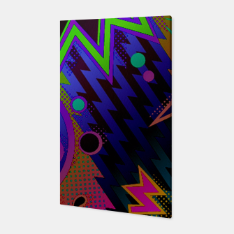 Miniatur Retro Mania 80's Abstract Canvas, Live Heroes