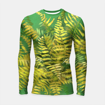 Thumbnail image of Golden Fern, green & yellow Longsleeve Rashguard , Live Heroes