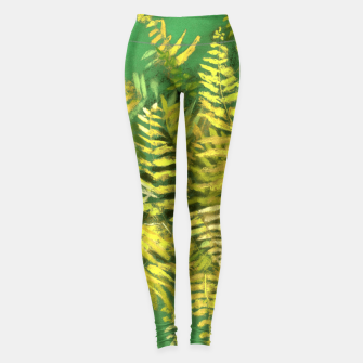 Golden Fern, green & yellow Leggings thumbnail image