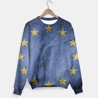 Thumbnail image of Old Vintage Grunge European Union Flag Sweater, Live Heroes