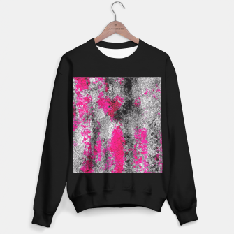 Miniature de image de vintage psychedelic painting texture abstract in pink and black with noise and grain Sweater regular, Live Heroes