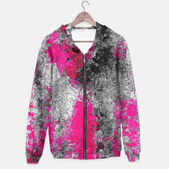 Miniature de image de vintage psychedelic painting texture abstract in pink and black with noise and grain Hoodie, Live Heroes