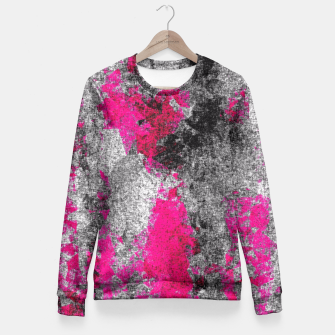 Miniature de image de vintage psychedelic painting texture abstract in pink and black with noise and grain Fitted Waist Sweater, Live Heroes