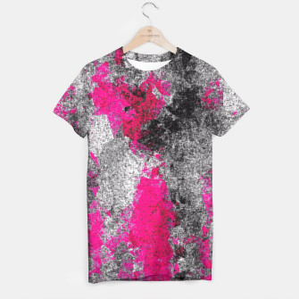 Miniature de image de vintage psychedelic painting texture abstract in pink and black with noise and grain T-shirt, Live Heroes