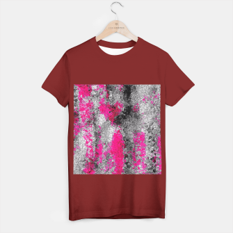 Miniature de image de vintage psychedelic painting texture abstract in pink and black with noise and grain T-shirt regular, Live Heroes
