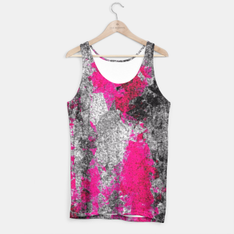 Miniature de image de vintage psychedelic painting texture abstract in pink and black with noise and grain Tank Top, Live Heroes