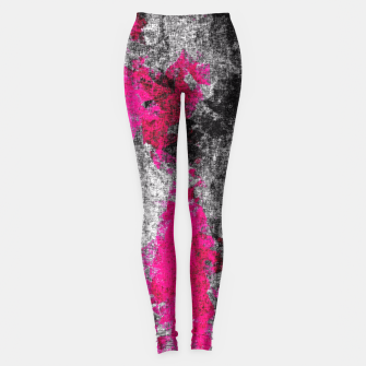 Miniature de image de vintage psychedelic painting texture abstract in pink and black with noise and grain Leggings, Live Heroes