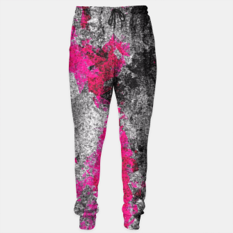 Miniature de image de vintage psychedelic painting texture abstract in pink and black with noise and grain Sweatpants, Live Heroes