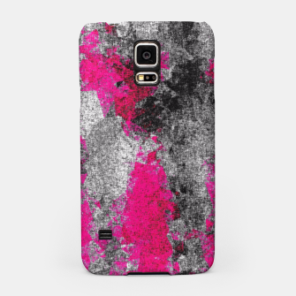 Miniature de image de vintage psychedelic painting texture abstract in pink and black with noise and grain Samsung Case, Live Heroes