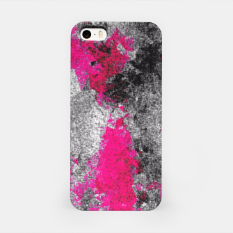 Miniature de image de vintage psychedelic painting texture abstract in pink and black with noise and grain iPhone Case, Live Heroes