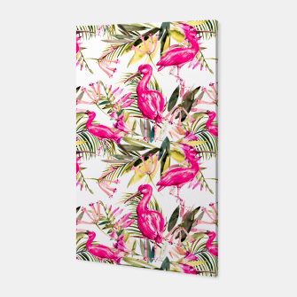 Miniatur Exotic pink bird in the tropical jungle Canvas, Live Heroes