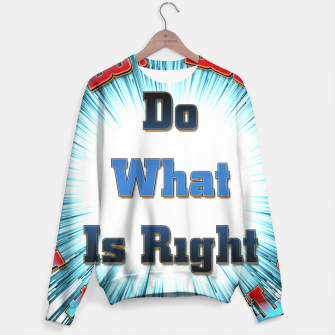 Miniaturka Do What Is Right CFSB Sweater, Live Heroes
