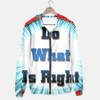 Miniaturka Do What Is Right CFSB Hoodie, Live Heroes