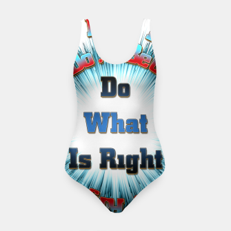 Thumbnail image of Do What Is Right CFSB Swimsuit, Live Heroes