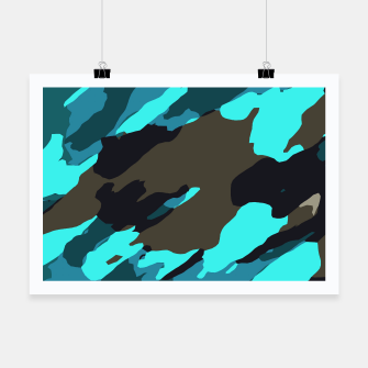 camouflage splash painting abstract in green brown blue Poster thumbnail image
