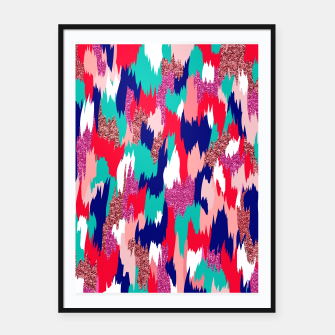 Thumbnail image of Elena Abstract Framed poster, Live Heroes