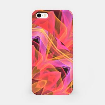 Thumbnail image of Abstract Peach Violet Mandala Ribbon Candy Lace iPhone Case, Live Heroes