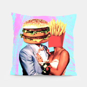 Thumbnail image of Fast Food Love Pillow, Live Heroes